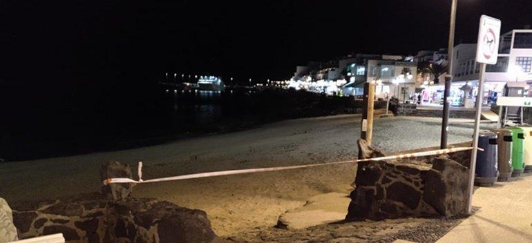 Playa Blanca Beach Closed
