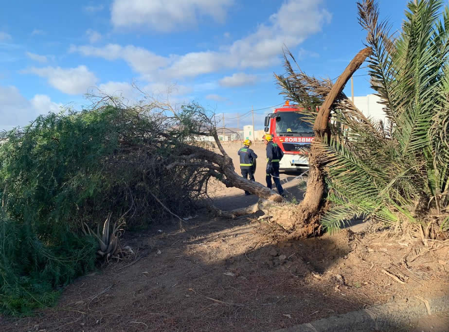 Lanzarote Wind Gusts of up to 89 Kilometers per hour on Monday