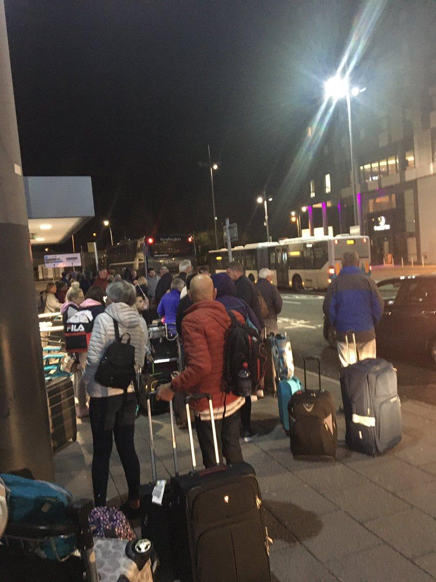 Surprised Edinburgh Passengers from Lanzarote Land in London