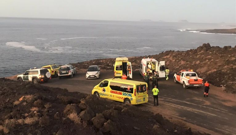 A 45-year-old Man Drowned on the Coast of Tinajo
